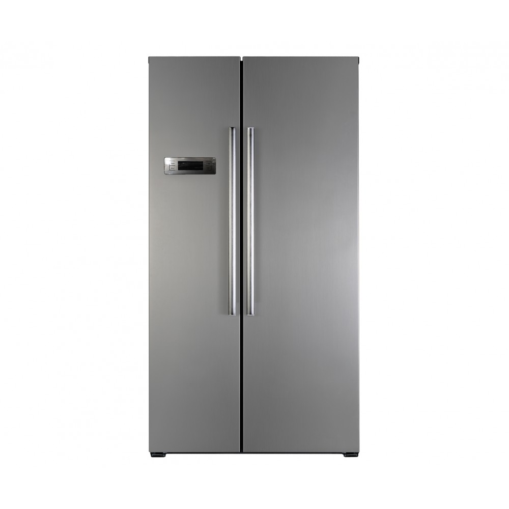 Heller Side by Side Stainless Steel Fridge & Freezer 562 Litres