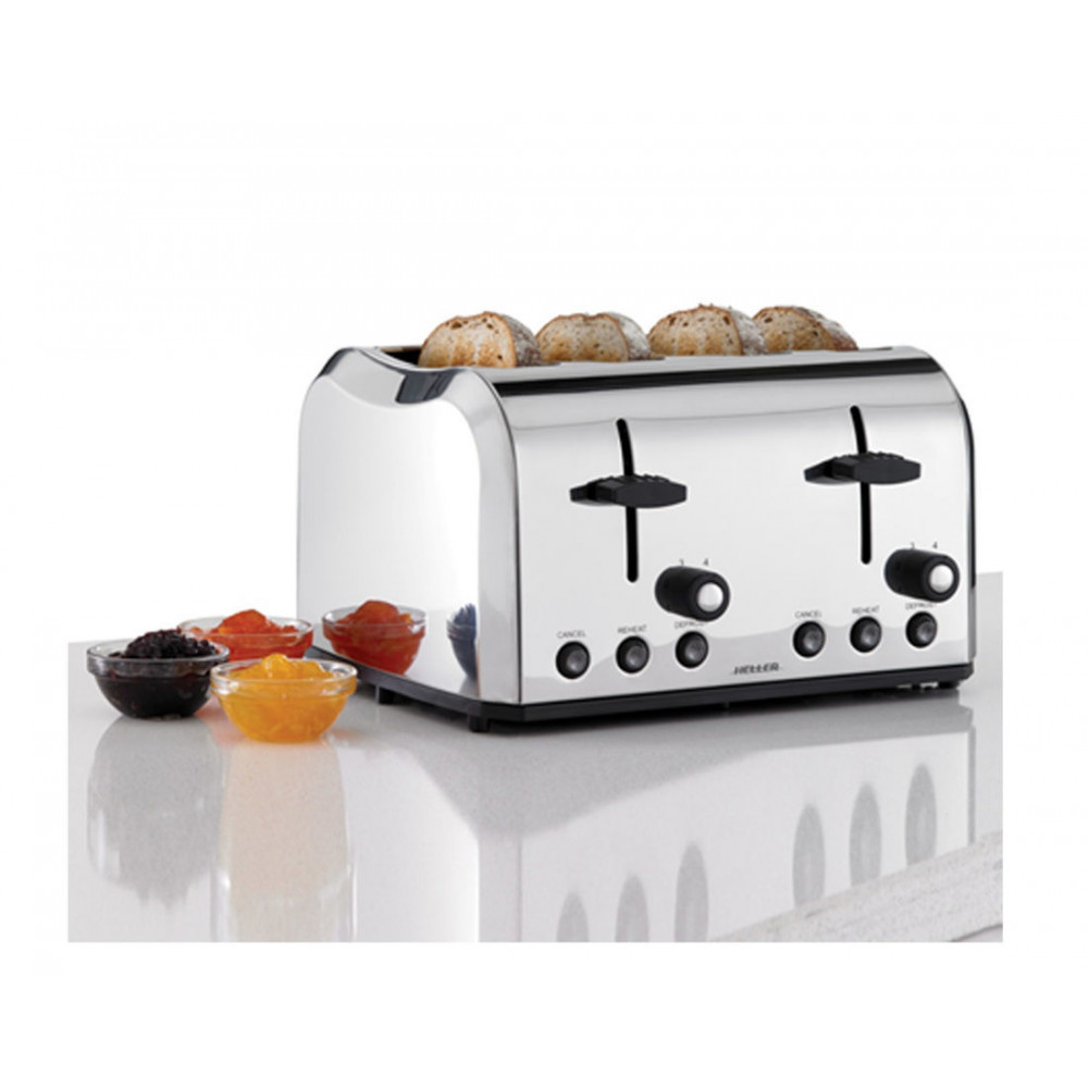Heller Professional Stainless Steel 4 Slice Toaster