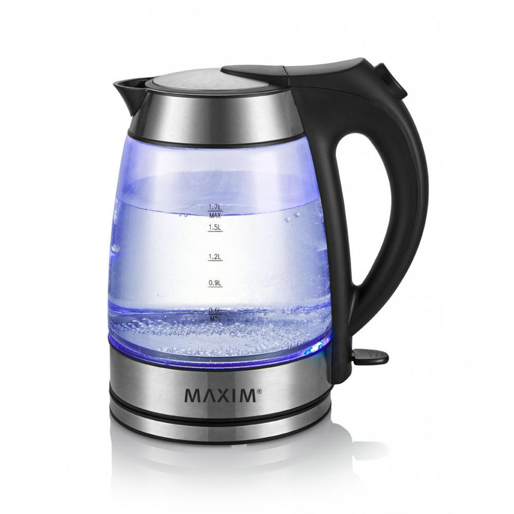 MAXIM 1.7L Glass Cordless Kettle