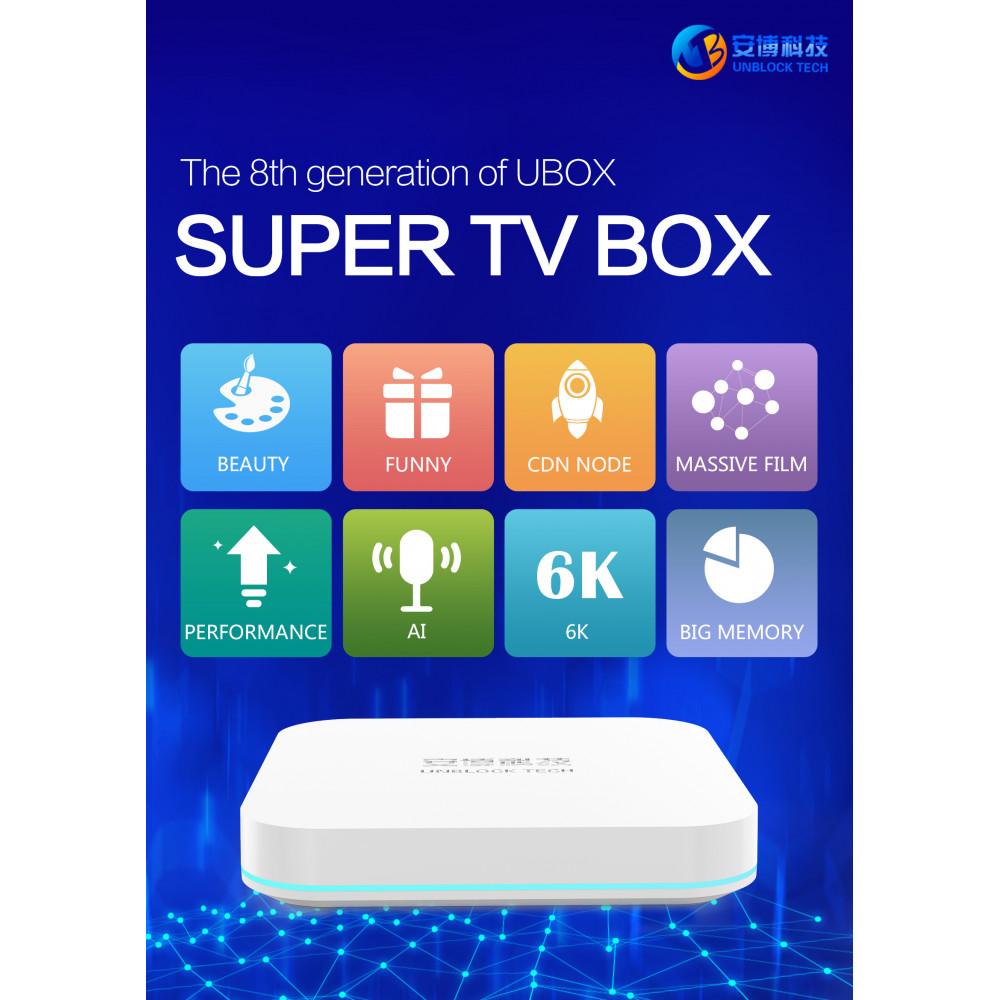 2020 UNBLOCK TECH UBOX8 GEN 8 TV BOX