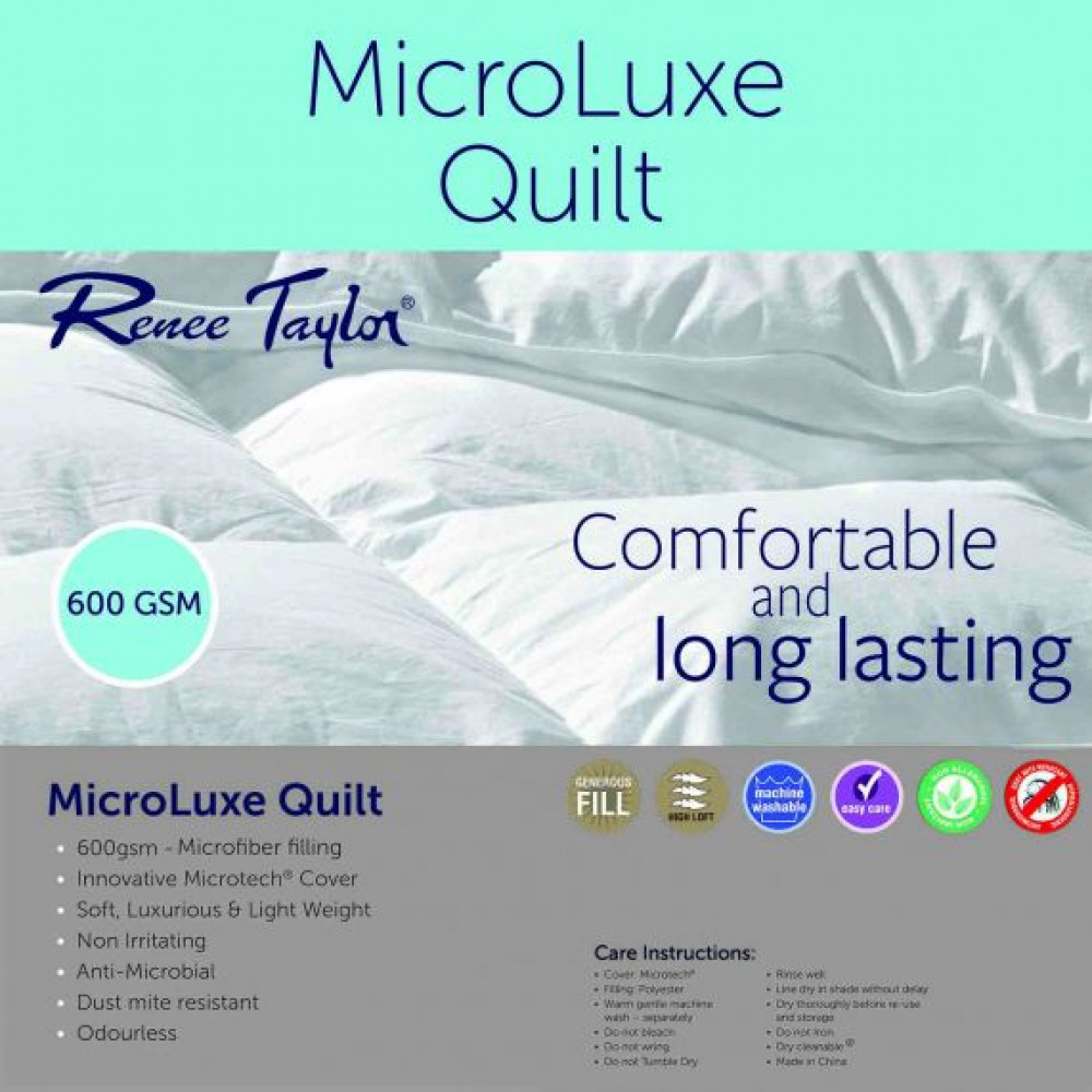 Renee Taylor 600 GSM Microluxe Quilts