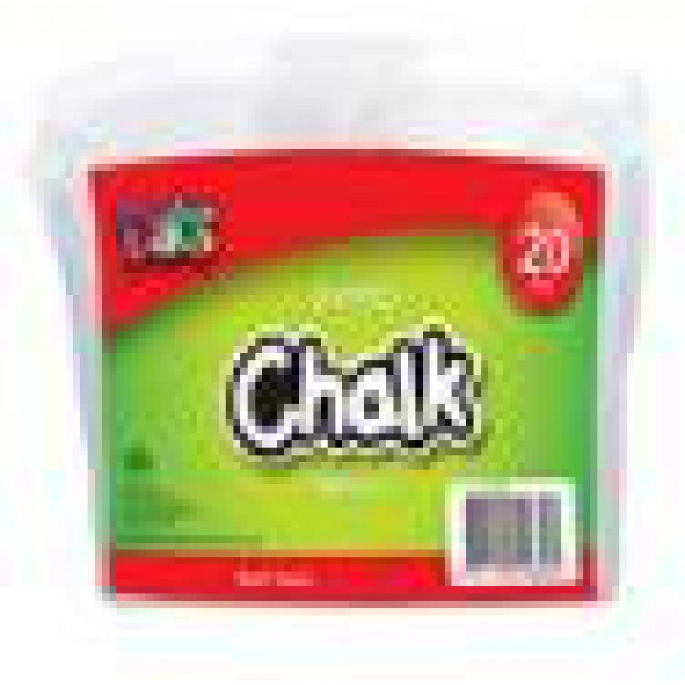 CHALK JUMBO WHITE 20PK