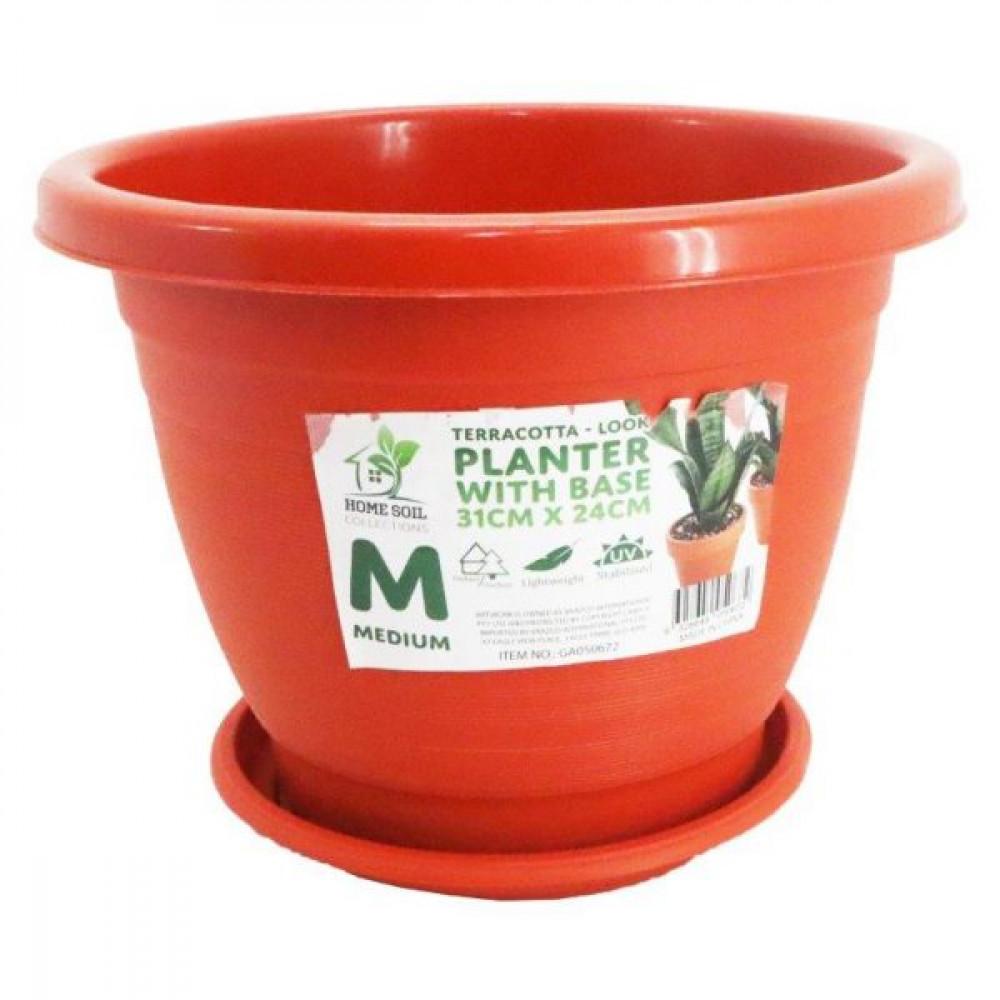 Planter Round w/base 31X24