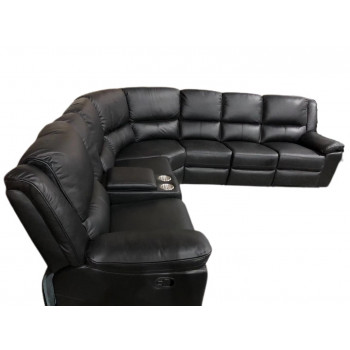 IBIS 6 SEATER RECLINERS IN FULL LEATHER