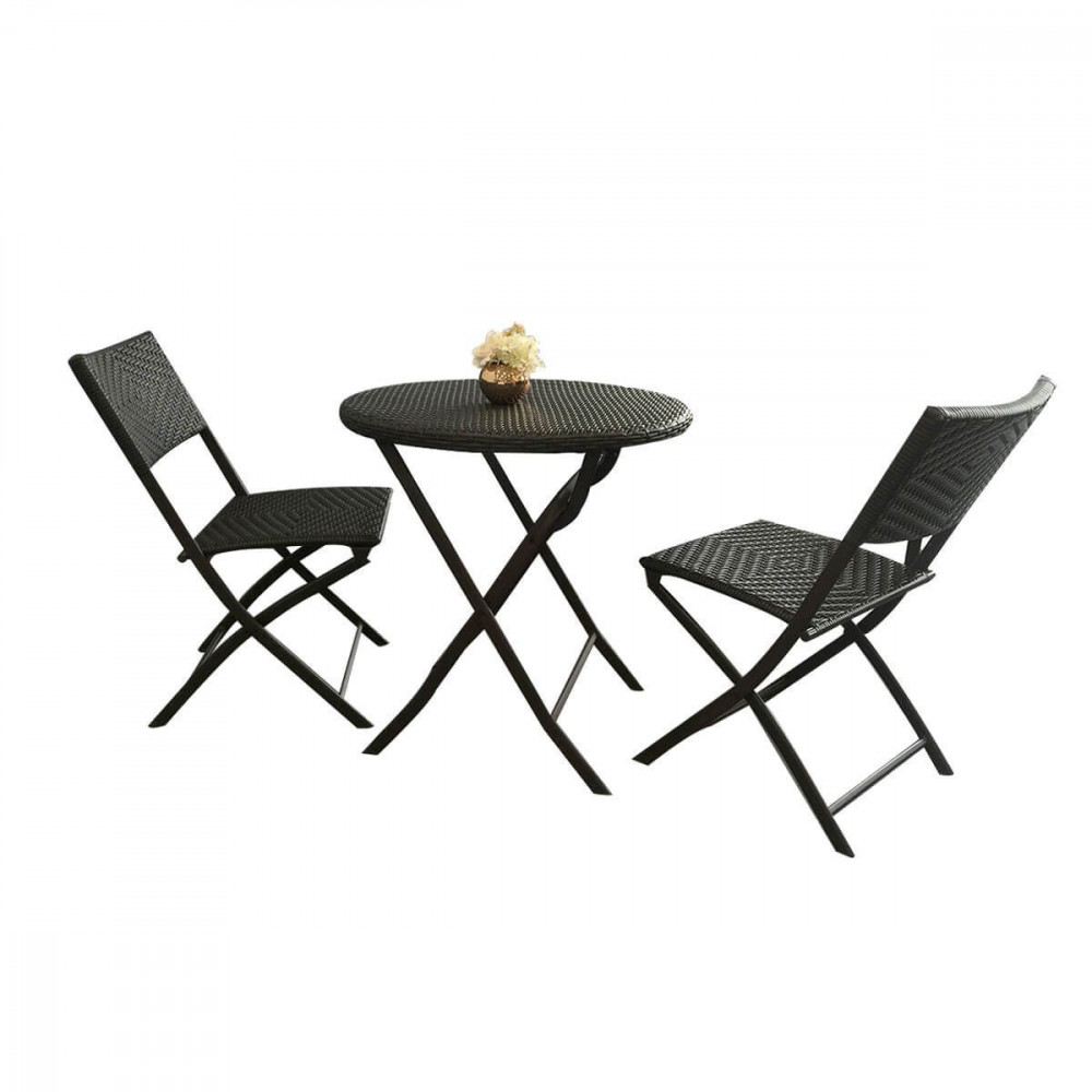 Garden 3-Piece Foldable Table and Chair Set