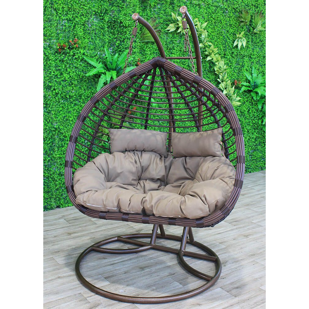DOUBLE FLEMING TUBBED POD EGG CHAIR