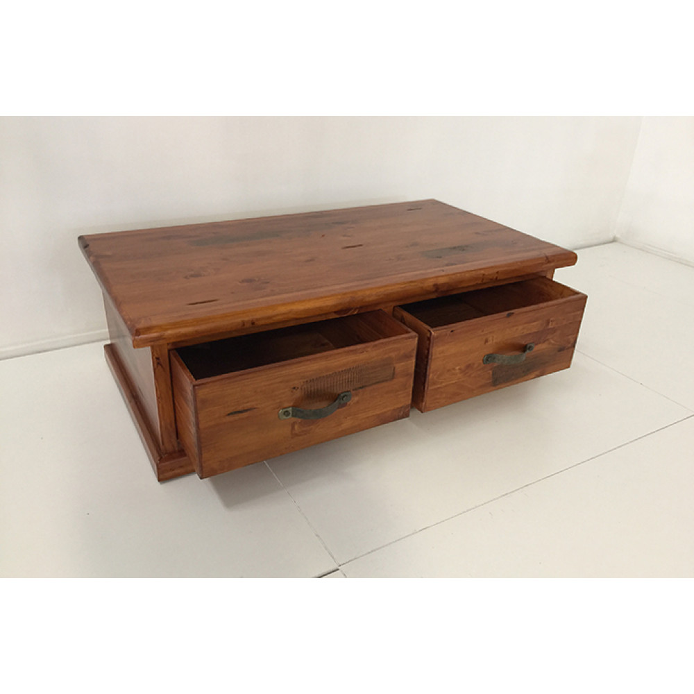 AMERICAN RUSTIC WOODEN COFFEE TABLE