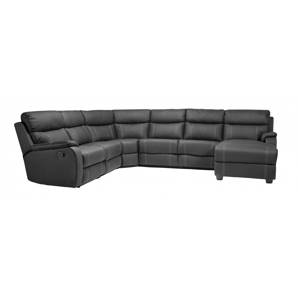 PORTER 6SMOD CORNER SET WITH RECLINER AND SOFA BED BUILT IN