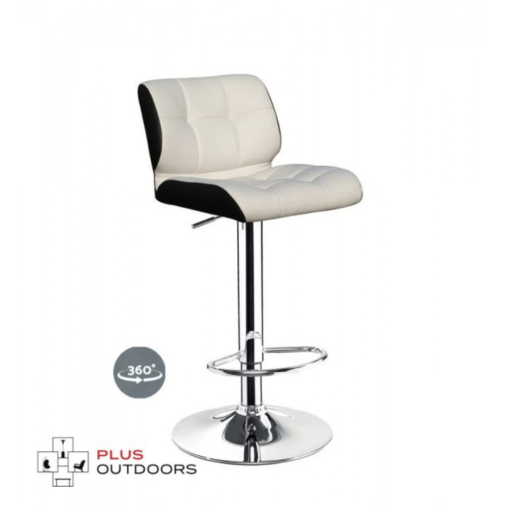 LEATHER KITCHEN CHAIR GAS LIFT SWIVEL BAR STOOL