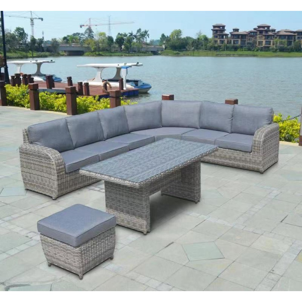 BUFFA Corner Outdoor 5 pcs set High Coffee Table