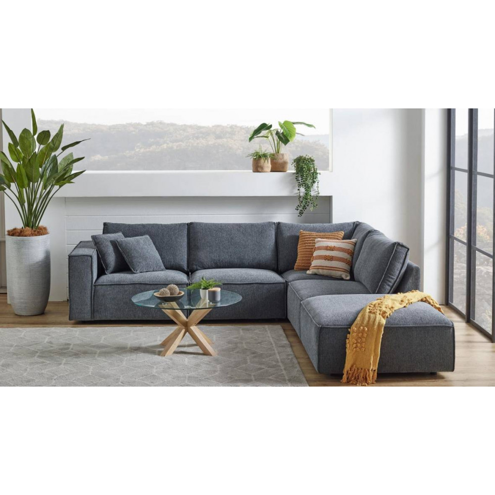 KELLY 4 SEATER WITH OTTOMAN